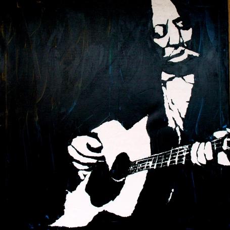 """""""Big Bill Broonzy"""" - Acrilyc on canvas - 100x100 cm"""