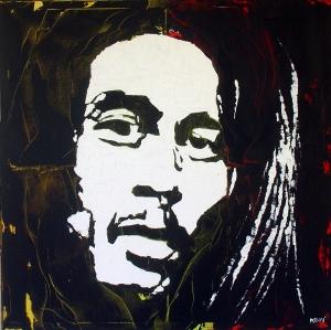 """""""Bob Marley"""" - Acrilyc on canvas - 100x100 cm"""
