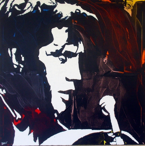 """Elvis Presley"" - Acrilyc on canvas - 100x100 cm"