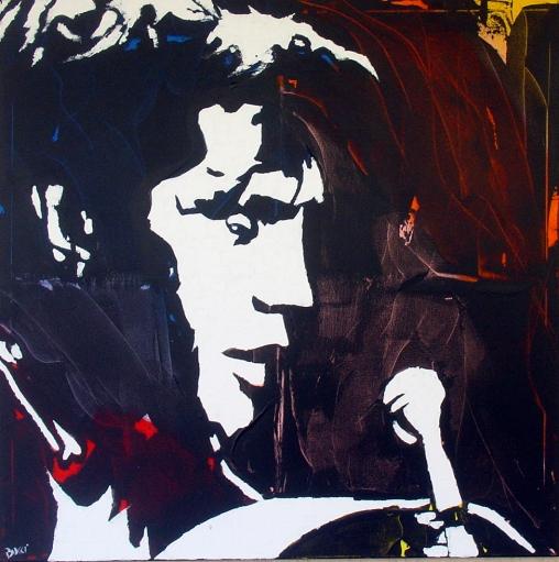 """Elvis Presley"" - Acrilyc on canvas - 100x100 cm"