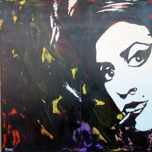 """Amy Winehouse"" - Acrilyc on canvas - 100x100 cm"
