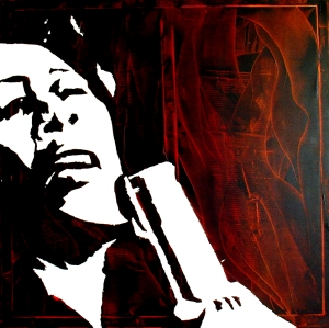 """Ella Fitzgerald"" - Acrilyc on canvas - 100x100 cm"