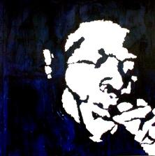 """Junior Wells"" - Acrilyc on canvas - 100x100 cm"