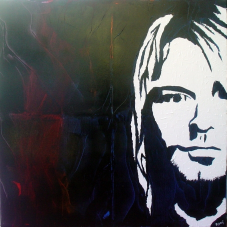 """""""Kurt Cobain"""" - Acrilyc on canvas - 100x100 cm"""