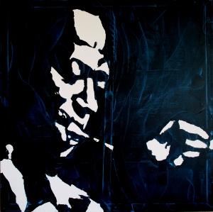 """Miles"" - Acrilyc on canvas - 100x100 cm"