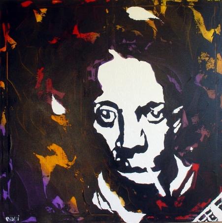 """""""Robert Johnson"""" - Acrilyc on canvas - 100x100 cm"""