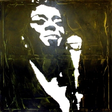 """Sarah Vaughan"" - Acrilyc on canvas - 100x100"