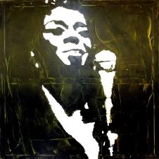 """""""Sarah Vaughan"""" - Acrilyc on canvas - 100x100"""
