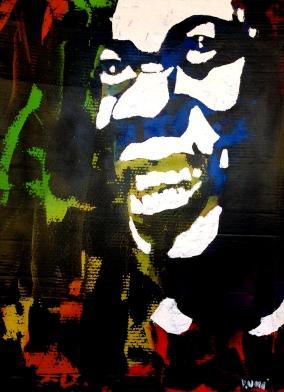 """""""Satchmo"""" - Acrilyc on canvas - 100x100 cm"""