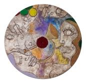 """Nicola Bucci - Graffito """"M2"""" - graffito su tavola - tecnica mista - 80x80 cm"""