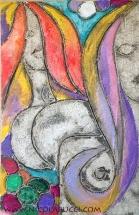 "Nicola Bucci - ""T"" - bassorilievo - tecnica mista su tavola - 70x90 cm - 2007"