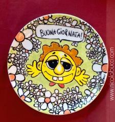Nicola Bucci - piatto in ceramica - 30x30 cm