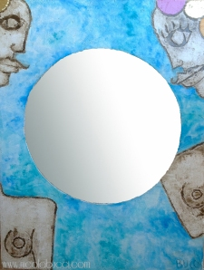 """Nicola Bucci - Quadrospecchio """"O"""" - 980x106 cm"""
