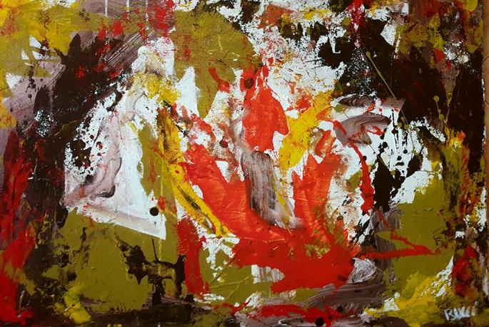 "Nicola Bucci - ""M"" -Acrilico su tela cartonata- 100x70cm"