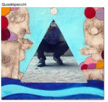 """Nicola Bucci - Quadrospecchio """"V"""" - 90x80 cm"""