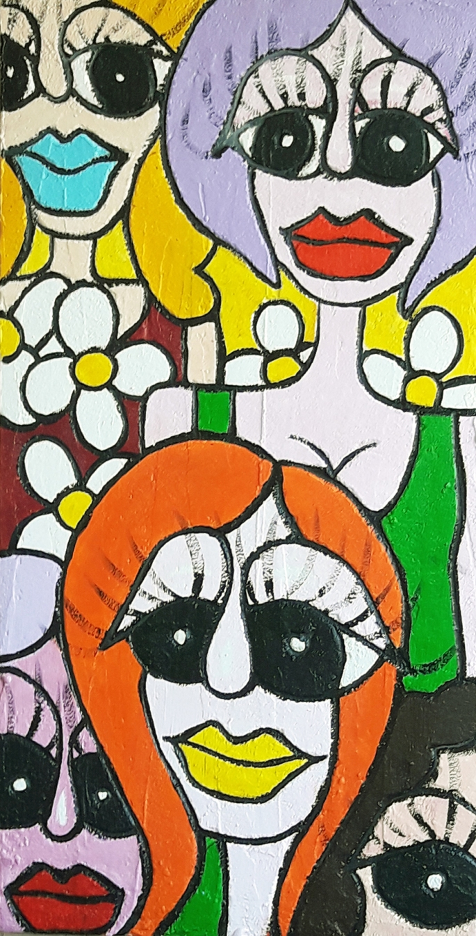 """Nicola Bucci - """"D""""- Graffito su tavola - tecnica mista - 45x87 cm"""