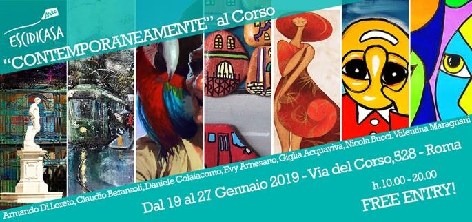 """""""CONTEMPORANEAMENTE"""" al Corso - Via del Corso,528 - Roma"""